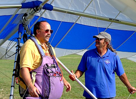 Brad from Raven Sky Sports and Jon from Kitty Hawk Kites at Campbell Field Airport