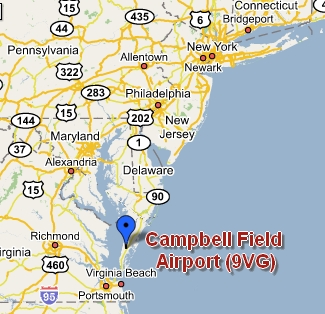 Map of 9VG, Campbell Field Airpor