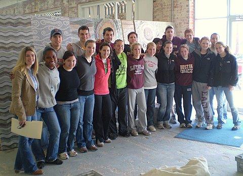 Boston College tours New Ravenna